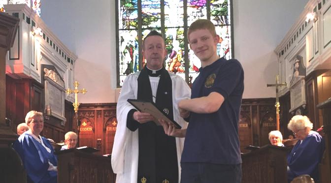 Josh Celebrates Scouting Award